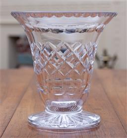 Sale 9190H - Lot 82 - A heavy English Art Deco hand cut lead crystal vase C: 1940s