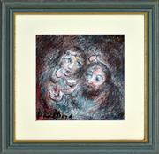 Sale 8325 - Lot 544 - David Boyd (1924 - 2011) - Mary and Jesus 23 x 23cm