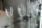 Sale 8322 - Lot 85 - Crystal Set of 6 Finely Etched Wines