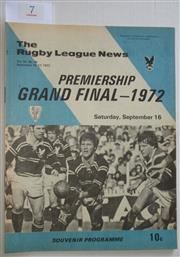 Sale 8404S - Lot 7 - 1972 Rugby League News Grand Final Programme, Sept 17 (Vol.53, No.36), Manly v Easts