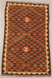 Sale 8445K - Lot 81 - Maimana Afghan Kilim Rug , 154x94cm, Handwoven in Northern Afghanistan using durable local wool. Traditional and reversible slit wea...