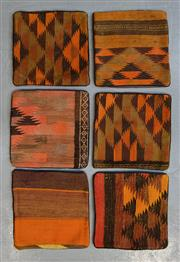 Sale 8472C - Lot 46 - 6 x Afghan Kilim Cushion Covers 40cm x 40cm