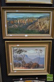 Sale 8487 - Lot 2014 - 2 Artworks: J. Emmett, Windy Morning Jamieson Valley, Oil, SLR; N. Cottee, Grose Valley, oil SLL
