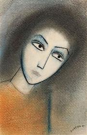 Sale 8583 - Lot 537 - Robert Dickerson (1924 - 2015) - Pensive 28 x 18cm
