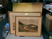 Sale 8582 - Lot 2101 - 3 Prints incl. A. Baker Department of Lands, SLL,  George Street Sydney & East End Markets Melbourne