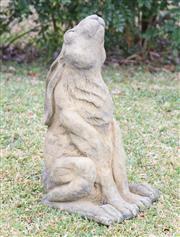 Sale 8586A - Lot 114 - A cast stone statue of a hare, H 49cm
