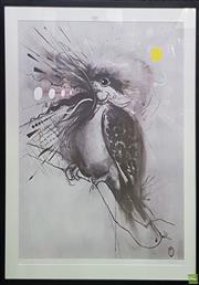 Sale 8595 - Lot 2047 - Brett Whiteley, well framed decorative print, The Laughing Kookaburra, 77 x 60cm