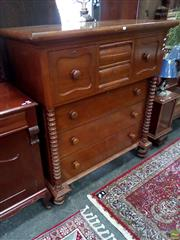 Sale 8620 - Lot 1006 - Victorian Mahogany Chest of Drawers (H: 138 W: 125 D: 58cm)