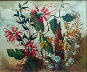 Sale 8655A - Lot 5012 - William Fletcher (1924 - 1983) - Spider Flowers 24 x 29cm