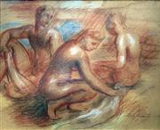 Sale 8808A - Lot 5009 - Jean Bellette (1901 - 1991) - Three Figures 21 x 25.5cm