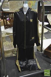 Sale 8287 - Lot 1092 - Vintage Wet Look Adidas Track Suit XXL