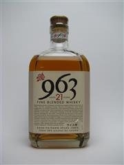 Sale 8329 - Lot 591 - 1x Sasanokawa Shuzo 21YO 963 Blended Japanese Whisky - in box