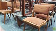 Sale 8383 - Lot 1030 - Set of Four Upholstered Douglas Snelling Dining Chairs