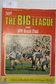 Sale 8404S - Lot 8 - 1974 Big League Grand Final Programme, Sept 21 (Vol.55, No.37), Canterbury v Easts