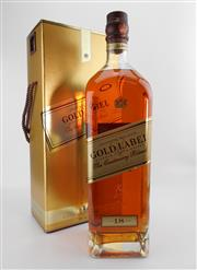 Sale 8498 - Lot 1742 - 1x Johnnie Walker 18YO Gold Label - The Centenary Blend Blended Scotch Whisky - 1750ml in presentation box