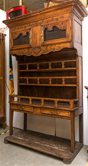 Sale 8516A - Lot 67 - A magnificent 19th century French farmhouse buffet / sideboard of grand proportions, handcrafted from walnut, showcasing fine hand c...