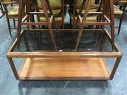 Sale 8643 - Lot 1054 - G Plan Teak Rectangular Coffee Table with Glass Top