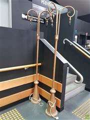 Sale 8637 - Lot 1001 - Pair of Metal Street Light Style Floor Lamps