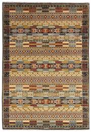 Sale 8626A - Lot 77 - A Cadrys Indian Chobi Design Handspun Wool Carpet, Size; 181x123cm, RRP; $1300
