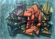 Sale 8655A - Lot 5013 - Dora Chapman (1911 - 1995) - Abstract Composition 1 18.5 x 26cm