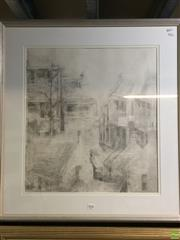 Sale 8650 - Lot 2091 - Toni Francis-Johnson (1937 - ) - Terrace Houses, pencil on paper, frame: 81 x 75cm, signed lower left