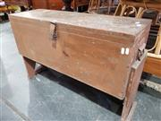 Sale 8744 - Lot 1095 - Rustic Toolbox on Stand