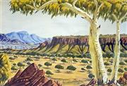 Sale 8808A - Lot 5010 - Oscar Namatjira (1922 - 1991) - West MacDonnell Ranges 36 x 53cm