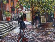 Sale 8980A - Lot 5026 - Reginald Rowe (1916 - 2010) - Zadee On The Rocks 28 x 36.5 cm (frame: 58 x 64 x 3 cm)