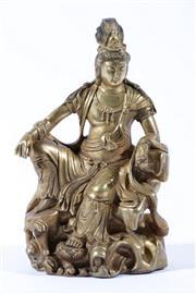 Sale 9010 - Lot 63 - A Gilded Bronze Figure Of Guanyin H:23cm