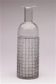 Sale 9056 - Lot 1064 - Vintage Metal Caged Gulvase Controlled Bubbles Glass Vase after Otto Brauer (h:36cm)