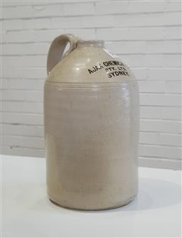 Sale 9154 - Lot 1004 - Large acid demijohn by Ajax Chemical Company (h:43cm)