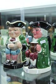 Sale 8322 - Lot 67 - Crown Devon Fieldings Musical Toby Jug with Another Staffordshire Example