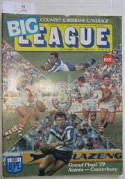 Sale 8404S - Lot 9 - 1979 Big League Grand Final Programme, Sept 25 (Vol.60, No.31), St George v Canterbury