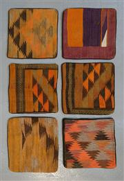 Sale 8472C - Lot 48 - 6 x Afghan Kilim Cushion Covers 40cm x 40cm