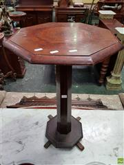 Sale 8559 - Lot 1040 - Art Deco Specimen Table of Australian Interest, the octagonal wood possibly veneered in beef-wood & casuarina, on a faceted pedestal...