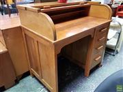 Sale 8566 - Lot 1072 - Vintage Roll Top Desk (97.5 x 60 x 96.5)