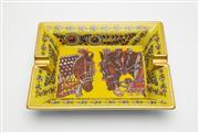 Sale 8770 - Lot 102 - An Hermes porcelain ashtray 20cm x 16cm