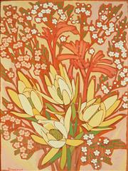 Sale 8821A - Lot 5098 - Joanne Thew - Wildflowers 60.5 x 45cm
