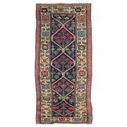 Sale 8911C - Lot 61 - Caucasian Antique Kazak Runner, Circa 1920, 200x95cm, Handspun Wool