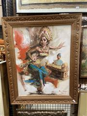 Sale 8927 - Lot 2033 - Painting of a Balinese Dancer