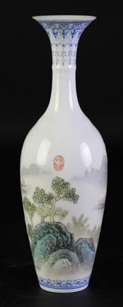 Sale 8957 - Lot 40 - A Fine Porcelain Chinese Vase (H 22cm)