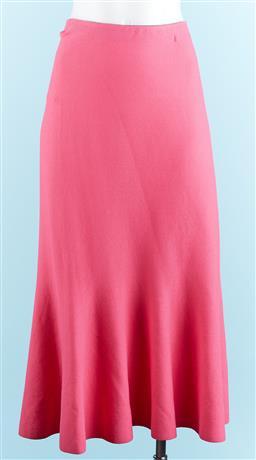 Sale 9091F - Lot 16 - AN IZABEL LONDON HOT PINK SKIRT; 70% acrylic, 30% nylon, size XL/14