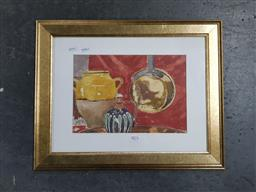 Sale 9127 - Lot 2075 - Artist Unknown Country Table watercolour, 38 x 48cm (frame) unsigned -