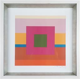 Sale 9155 - Lot 2030 - BAPTIST Geometric I decorative print, frame: 46 x 46 cm, facsimile signed lower right -