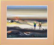 Sale 8363 - Lot 512 - Tom Gleghorn (1925 - ) - Whyte Yarcowie Rabbiters, 1981 43.5 x 57.5cm