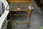 Sale 8489 - Lot 1092 - Brass Tea Trolley