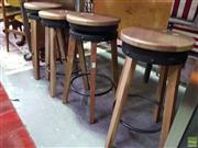 Sale 8585 - Lot 1723 - Set of 4 Industrial Style Stools