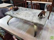 Sale 8554 - Lot 1021 - Cow Hide Clad Occasional table
