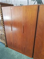 Sale 8661 - Lot 1015 - G-Plan Teak Two Door Wardrobe