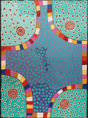 Sale 8786 - Lot 507 - Punata Stockman Nungurrayi (1956 - ) - Budgerigar Dreaming 122 x 91cm (stretched and ready to hang )
